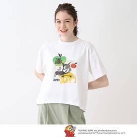 【S-L】トムとジェリー フロントプリントTシャツ (ホワイト)