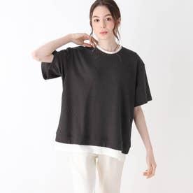 【S-L】ワッフルフェイクTシャツ (チャコールグレー)