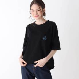 【S-L】ホリディ前ポケットコラボTシャツ (ブラック)