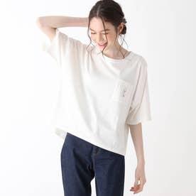 【S-L】ホリディ前ポケットコラボTシャツ (オフホワイト)