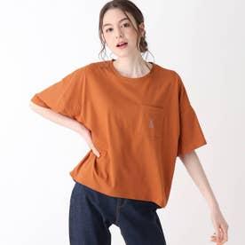 【S-L】ホリディ前ポケットコラボTシャツ (オレンジ)