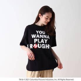【S-L】ゴーストバスターズリリックTシャツ (ブラック)