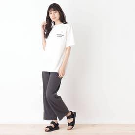 【2点セット】チュニックTシャツ+ボトム (チャコールグレー)