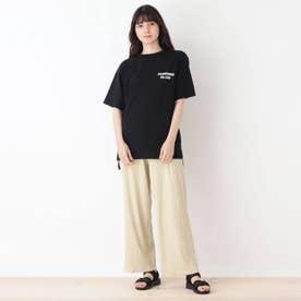 【2点セット】チュニックTシャツ+ボトム (ライトベージュ)