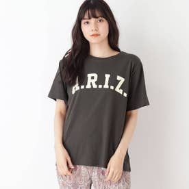 【S-L】BIGロゴプリントTシャツ (チャコールグレー)