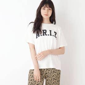 【S-L】BIGロゴプリントTシャツ (オフホワイト)