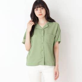 【S-L】オープンカラーシャツ (カーキ)