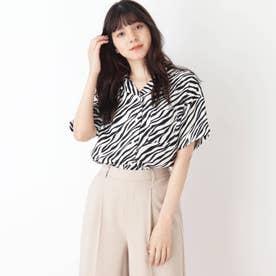 【S-L】オープンカラーシャツ (ブラック)