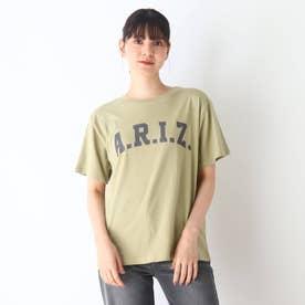 【S-L】BIGロゴプリントTシャツ (カーキ)
