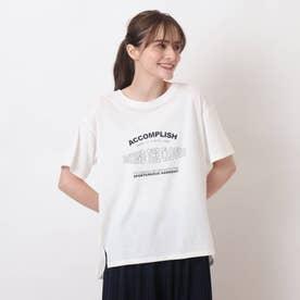 【S-L】ひんやりロゴTシャツ (オフホワイト)