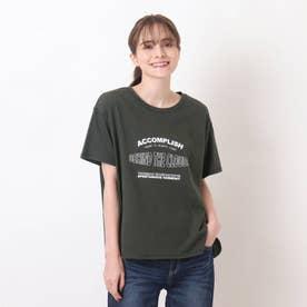 【S-L】ひんやりロゴTシャツ (チャコールグレー)