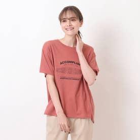 【S-L】ひんやりロゴTシャツ (レンガ)