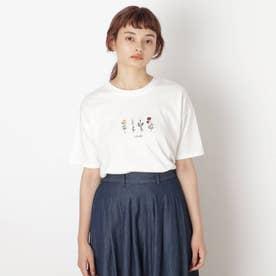 【S-L】フラワー刺繍プルオーバー (オフホワイト)