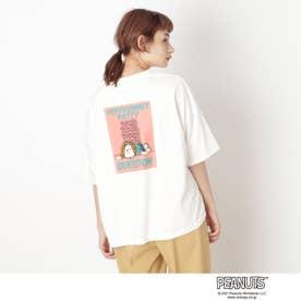 【S-L】ピーナッツ転写Tシャツ (オフホワイト)