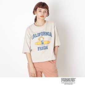 【S-L】ピーナッツ転写Tシャツ (ナチュラル)