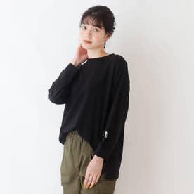 【久保乃々花さん着用商品】アソートバックプリントロングTシャツ (ブラック)