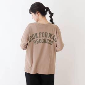 【久保乃々花さん着用商品】アソートバックプリントロングTシャツ (タバコブラウン)
