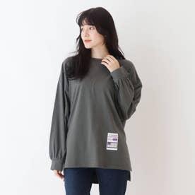 【久保乃々花さん着用商品】ルーズシルエットTシャツ (チャコールグレー)