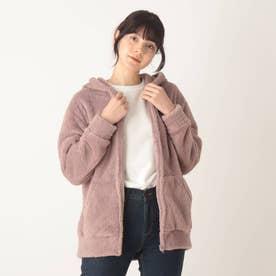 【久保乃々花さん着用商品】【S-L】ボアフードパーカー (ピンク)