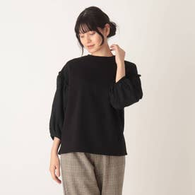 【S-L】お袖切替プルオーバー (ブラック)