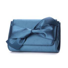 サテンリボンクラッチ (Blue)