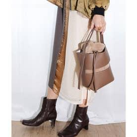 《2020年秋冬》フェイクファー巾着付き ドロストバッグ (G,Beige)