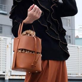 《2020年秋冬》フェイクファー巾着付き ドロストバッグ (Brown)