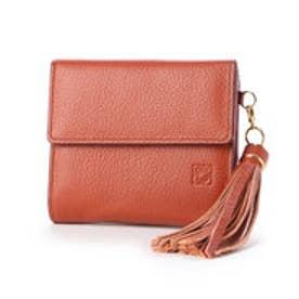 【カード収納枚数9枚】キアーロ 日本製 外小銭入れ付き二つ折り財布 (テラコッタ)