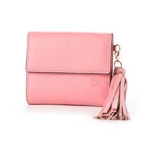 【カード収納枚数9枚】キアーロ 日本製 外小銭入れ付き二つ折り財布 (ピンク)
