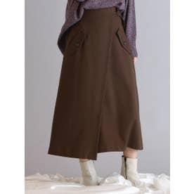ベルトデザインポケットトレンチスカート【WEB別注】 (ブラウン)