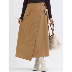 ベルトデザインポケットトレンチスカート【WEB別注】 (キャメル)