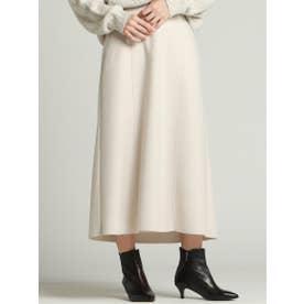 タイトフレアカラースカート (オフホワイト)