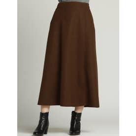 タイトフレアカラースカート (ブラウン)