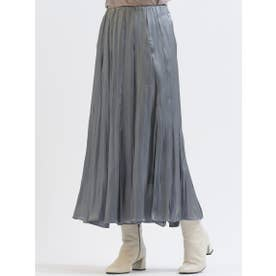シャイニーサテンスカート (ライトグレー)