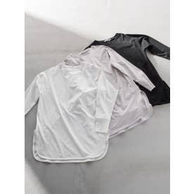 ラウンドヘムロングTシャツ (オフホワイト)