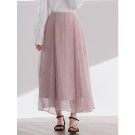 ソフトオーガンジースカート (ピンク)