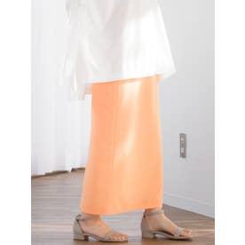リンクルシフォンタイトスカート【セットアップ可能】 (オレンジ)