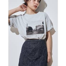 フォトプリントTシャツ (ブルー)