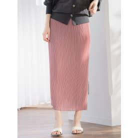 【WEB別注】スリムプリーツタイトスカート (ピンク)