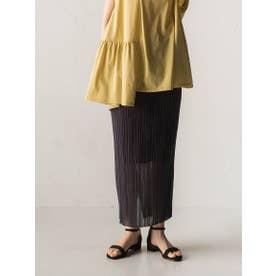 ニットプリーツタイトスカート【セットアップ可能】 (チャコールグレー)