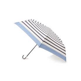 リムカラーボーダーミニ傘 (ライトブルー)