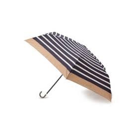 リムカラーボーダーミニ傘 (ネイビー)