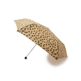 Wpc. レオパード柄折りたたみ傘 (ブラウン(042))