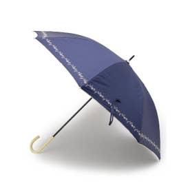 Wpc. ボタニカル刺しゅう晴雨兼用長傘 (ネイビー)