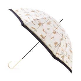 ベネチア柄長傘 (ネイビー)