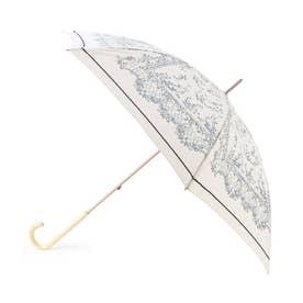 レース柄長傘 (ホワイト)