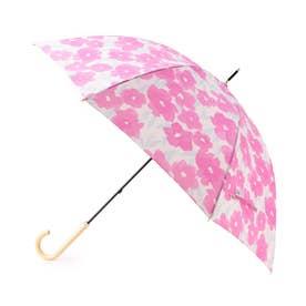 グラデーションフラワー柄長傘 (ピンク)