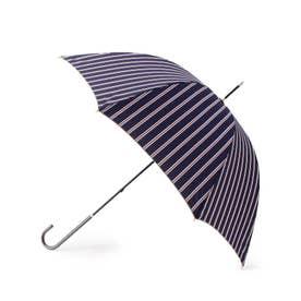 アイビーストライプアンブレラ(長傘) (ネイビー)
