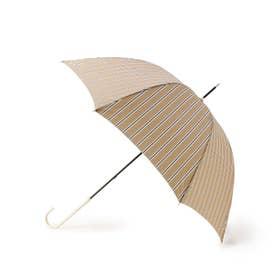 アイビーストライプアンブレラ(長傘) (ライトベージュ)