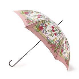 スカーフプリントアンブレラ(長傘) (ピンク)